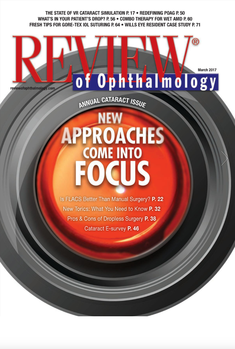 Review in Ophthalmology March 2017 Issue Featuring Asim Piracha